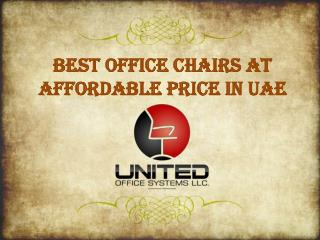 Best Office Chairs at Affordable Price in UAE