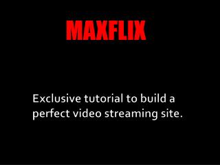 VIDEO STREAMING TUTORIAL SOURCE CODE