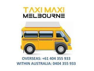 Maxi Taxi Melbourne | Maxi Cab Melbourne
