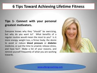 6 Tips Toward Achieving Lifetime Fitness
