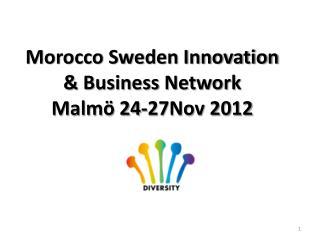 Morocco Sweden Innovation & Business Network 24-27Nov Malmö