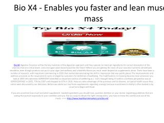Bio X4 - Faster quick muscle formation