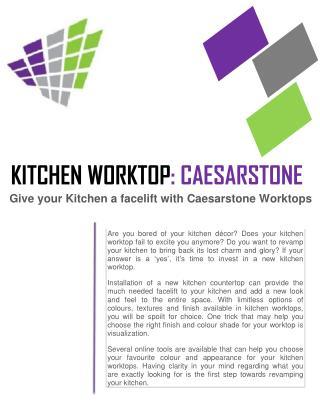 KITCHEN WORKTOP: CAESARSTONE