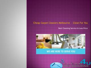 cheap carpet cleaners melbourne