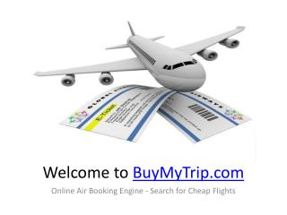 Online Air Booking Engine - Search for Cheap Flights