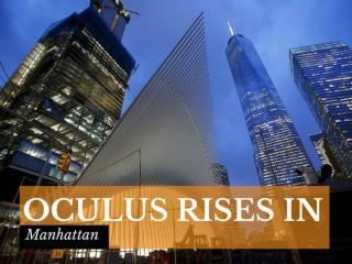 Oculus rises in Manhattan