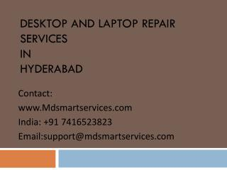 Best Desktop and Laptop Repair Services in Hyderabad at Mdsmartservices.com