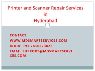 Best Printer and Scanner Repair Services in Hyderabad at Mdsmartservices.com