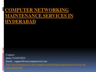 computer networking and maintenances services in hyderabad