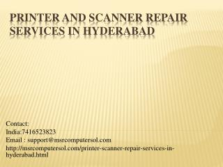 Scanner repair shops in hyderabad | Scanner service center in hyderabad