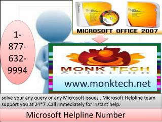 Microsoft Help Number for ms office 1-877-632-9994
