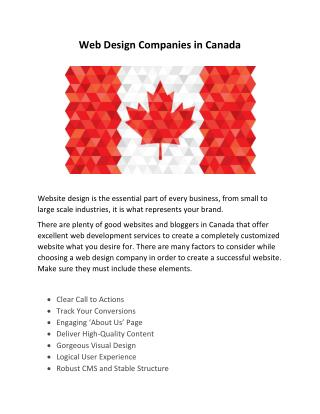 Web Design Companies in Canada