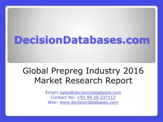 Global Prepreg Market and Forecast Report 2016-2021