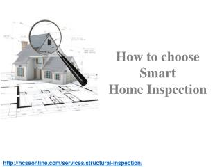 How to choose Smart Home Inspection