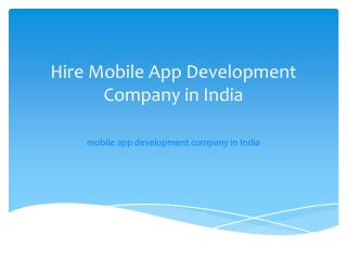 iPhone, android, Software Development Company in India