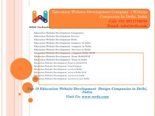 Educations Website development & Website Designing company Delhi/NCR