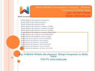 Mobile Website Development Companies Delhi