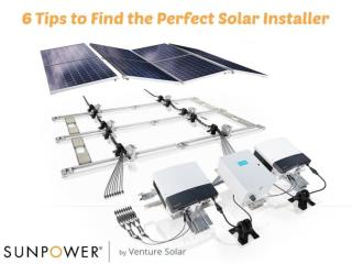 Tips To Find the Perfect Solar Installer