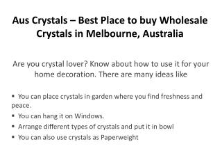 Aus Crystals – Best Place to buy Wholesale Crystals in Melbourne, Australia