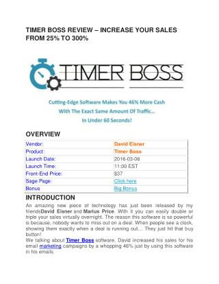 Timer Boss REVIEW || Download Timer Boss