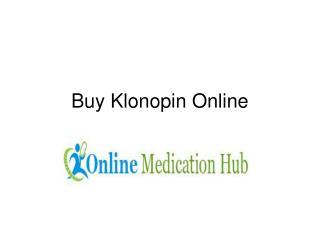 Buy Klonopin Online