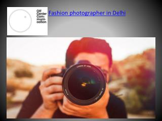 Fashion photographer in India
