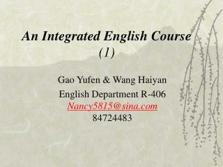 An Integrated English Course 1