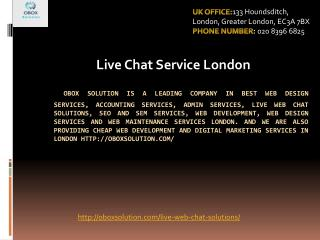 Live Chat service London