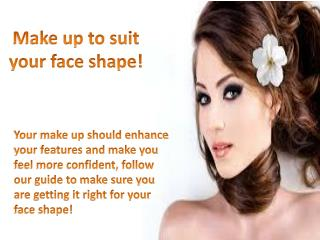 Make Up to Suit Your Face Shape