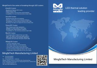 MingfaTech's Five Series of Breaking - Through LED Coolers