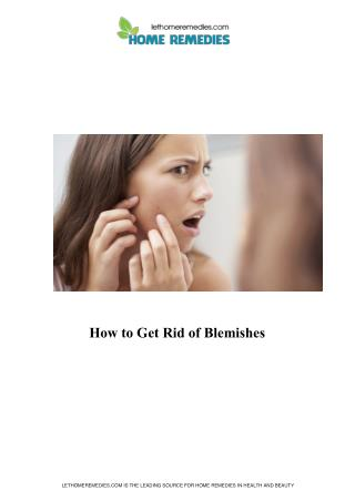 Home Remedies for Blemish