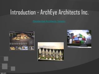 Residential Architects Toronto – ArchEye