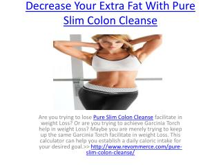 Decrease Your Extra Fat With Pure Slim Colon Cleanse