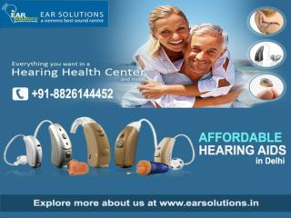 Discount on hearing aid price in Delhi - EAR Solutions