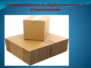 Avail heavy discount on 16L Shipping Boxes Bundle x25 at Supercheapboxes