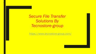 Secure File Transfe Solutions By Tecnostore-Group