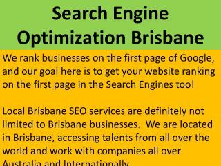 Professional Search Engine Optimization in Brisbane