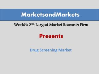 Drug and Alcohol Testing Market worth $6.3 Billion by 2019