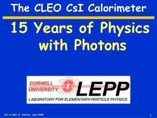 The CLEO CsI Calorimeter