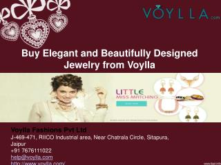 Buy Elegant and Beautifully Designed Jewelry from Voylla