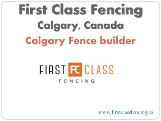 First Class Fencing