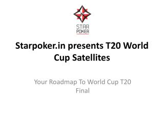 Starpoker.in presents T20 World Cup Satellites