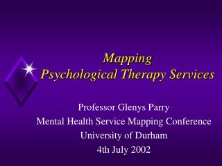 Mapping  Psychological Therapy Services