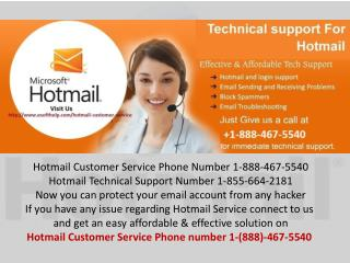 Hotmail not Connecting to Server