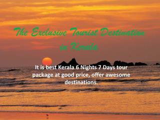 Fabulous Kerala 6 Nights 7 Days - My Holiday Trip