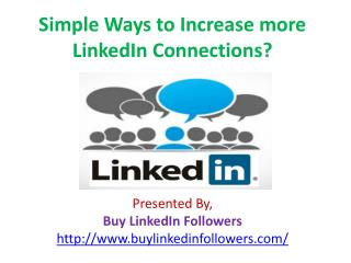 Simple Ways to Increase more LinkedIn Connections