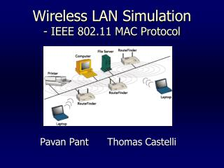 Wireless LAN Simulation - IEEE 802.11 MAC Protocol