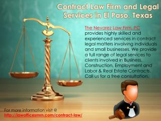 Contract Law Firm and Legal Services in El Paso, Texas