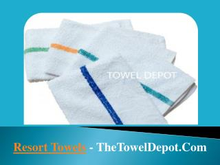 Best Resort Towels USA