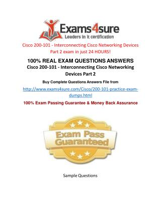 200-101 Questions Answers
